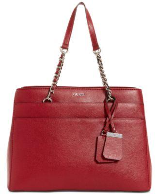 GUESS Katiana Chain Strap Girlfriend Satchel, a Macy\u0027s Exclusive Style