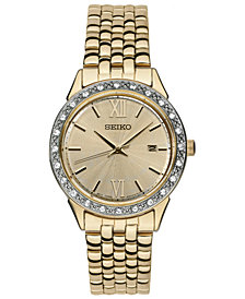 Seiko Women's Special Value Gold-Tone Stainless Steel Bracelet Watch 28mm