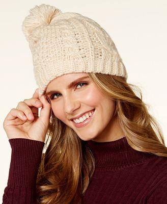 Lauren Ralph Lauren Honeycomb Cable Knit Beanie
