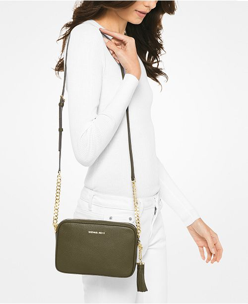 d457e99cb4 Michael Kors Ginny Pebble Leather Camera Bag   Reviews - Handbags ...