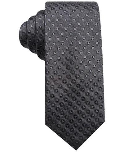Alfani Men's Dot Slim Silk Tie, Created for Macy's