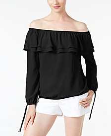 MICHAEL Michael Kors Off-The-Shoulder Flounce Top