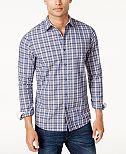 Michael Kors Men's Classic-Fit Plaid Shirt