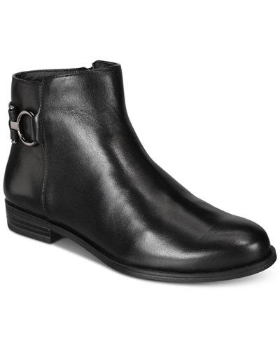 Alfani Women's Ayaa Step 'N Flex Flat Ankle Booties, Created for Macy's