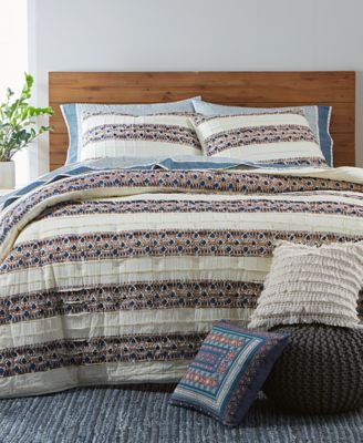 CLOSEOUT! Pleats & Thank You Twin Quilt, Created for Macy's