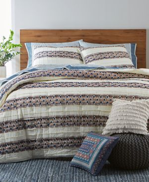 Martha Stewart Collection Pleats & Thank You King Quilt, Created for Macy's