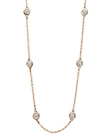 """Trio by EFFY® Diamond Seven Station 16-18"""" (1/2 ct. t.w.) in 14k Gold, White Gold or Rose Gold"""