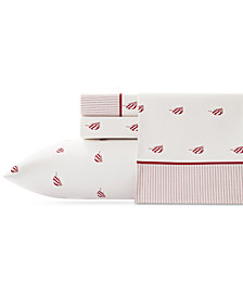 Nautica Heritage Spinnaker Cotton Percale 200-Thread Count 4-Pc. King Sheet Set