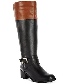 Style & Co Venesa Wide-Calf Riding Boots, Created for Macy's