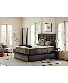 "Stearns & Foster Estate Palace 15.5"" Luxury Plush Euro Pillow Top Mattress Set- California King"