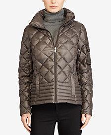 Lauren Ralph Lauren Stand-Collar Packable Down Jacket, Created for Macy's