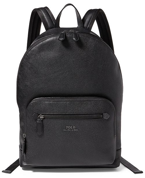 40ab2228a5d16 Polo Ralph Lauren Men s Pebbled Leather Backpack   Reviews - All ...