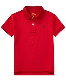 Toddler Boys Moisture-wicking Tech Jersey Polo Shirt