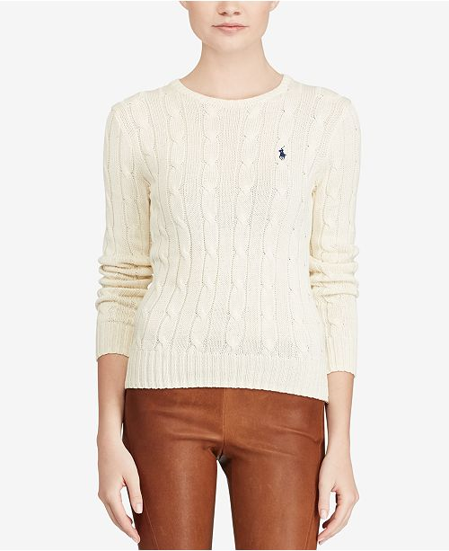 Polo Ralph Lauren Cable Knit Cotton Sweater Women Macys