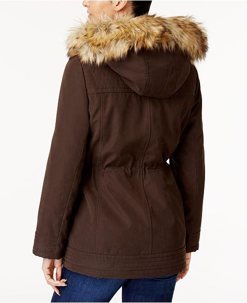 ac913042b3ae2 Jones New York Faux-Fur-Trim Parka   Reviews - Coats - Women - Macy s