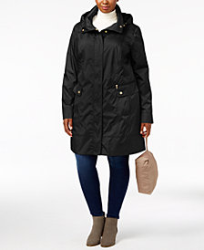 Cole Haan Signature Plus Size Packable Raincoat