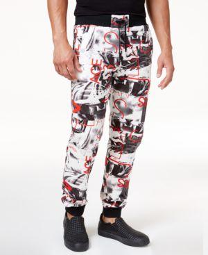 Versace Jeans Men's Graphic Print Drawstring Jogger Pants 4810099