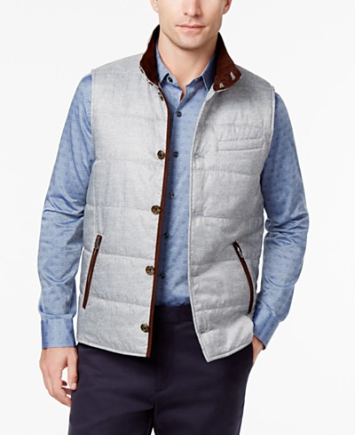 Tasso Elba Men's Reggie Quilted Vest, Created for Macy's