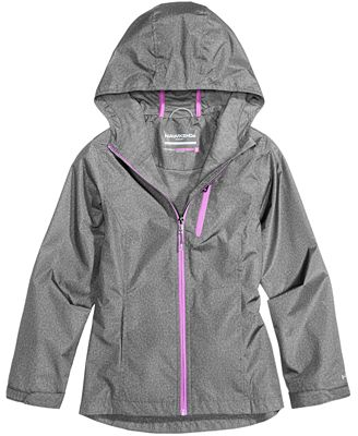 Hawke & Co. Outfitter Hooded Rain Jacket, Big Girls (7-16) - Coats ...