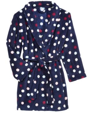 Max  Olivia DotPrint Belted Robe Little Girls (46X)  Big Girls (716) Created for Macys