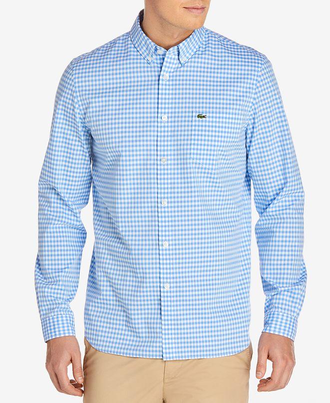 Lacoste Men's Gingham Pop Shirt