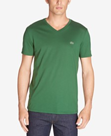 b83225db00 Lacoste Men s V-Neck Pima Cotton T-Shirt