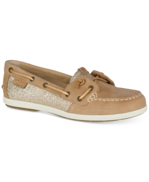 Sperry  WOMEN'S COIL IVY SPARKLE BOAT SHOES WOMEN'S SHOES