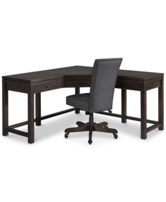 CLOSEOUT! Hendrik Home Office Furniture, 2-Pc. Set (Corner Desk & Desk Chair), Created for Macy's