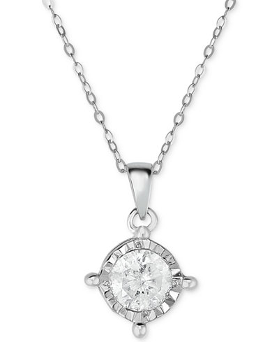 TruMiracle® Diamond Pendant Necklace (5/8 ct. t.w.) in 14k White Gold
