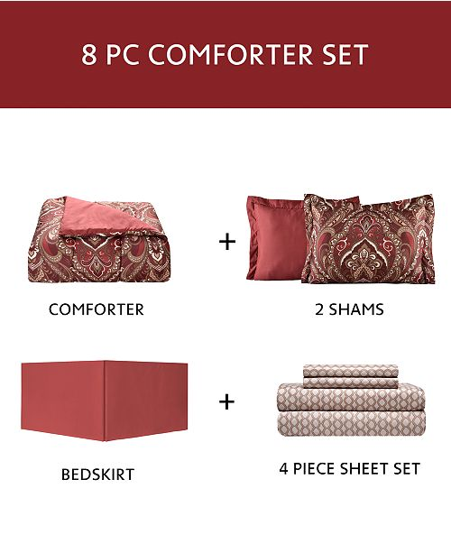 Fairfield Square Collection Norfolk 8 Pc Reversible