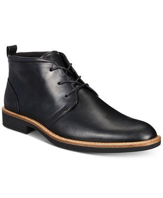 Ecco Outlet Ecco Men'S 630024 Biarritz Black Leather Slip On Dress Shoe