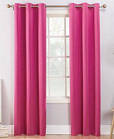 """CLOSEOUT! Sun Zero Campus Reversible 40"""" x 95"""" Fleece-Lined Energy-Efficient Blackout Grommet Curtain Panel"""