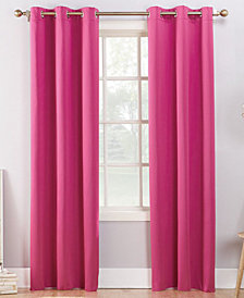CLOSEOUT! Sun Zero Campus Reversible Fleece-Lined Blackout Grommet Curtain Panel Collection
