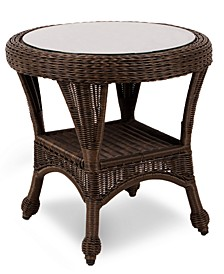 "Monterey Wicker 22"" Round Outdoor End Table, Created for Macy's"