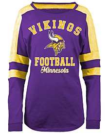 5th & Ocean Women's Minnesota Vikings Space Dye Long Sleeve T-Shirt