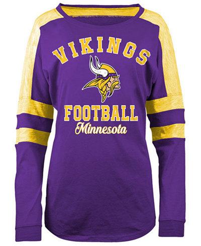 5th & Ocean Women's Minnesota Vikings Space Dye Long Sleeve T-Shirt