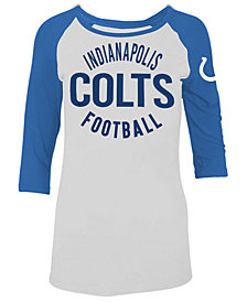 5th & Ocean Women's Indianapolis Colts Rayon Raglan T-Shirt
