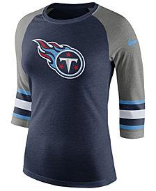 Nike Women's Tennessee Titans Stripe Raglan Triblend T-Shirt