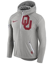Nike Men's Oklahoma Sooners Fly-Rush Quarter-Zip Hoodie