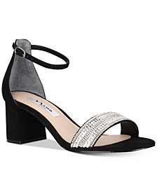 Elenora Evening Block-Heel Sandals