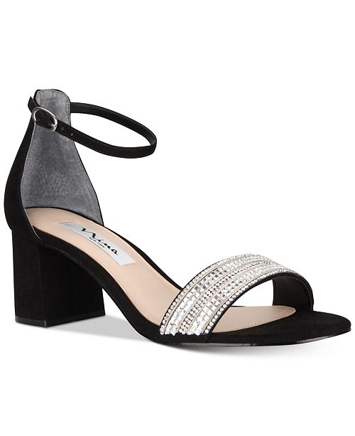 0e317b180e81 Nina Elenora Evening Block-Heel Sandals   Reviews - Sandals   Flip ...
