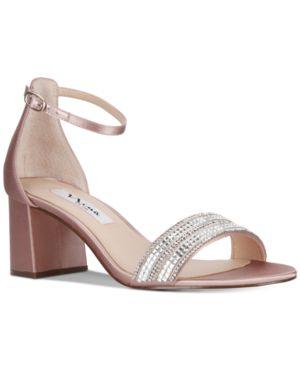Nina Elenora Evening Block-Heel Sandals Women's Shoes 4819202