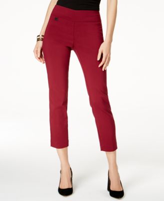 Image of Alfani Tummy-Control Pull-On Capri Pants, Created for Macy's