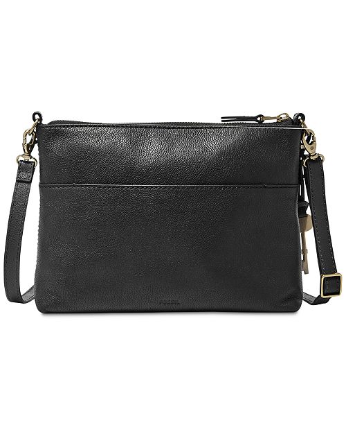 622ddeb0f Fossil Fiona Small Leather Crossbody & Reviews - Handbags ...