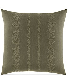 "Nador Embroidered 18"" Square Decorative Pillow"