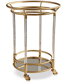 Leon Cylinder Bar Cart, Quick Ship