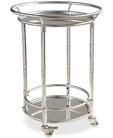 Leon Cylinder Bar Cart, Quick Ship