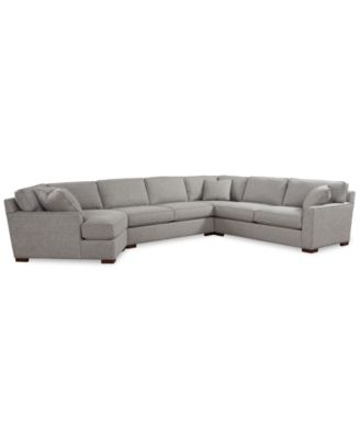 Carena 4-Pc. Fabric Sectional with Cuddler Chaise, Created for Macy's