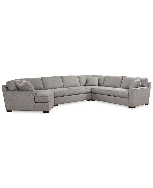Furniture Carena 4-Pc. Fabric Sectional Sofa with Cuddler Chaise, Created for Macy's