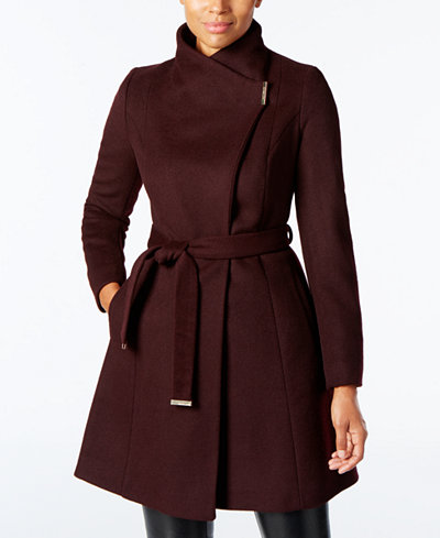 Michael Michael Kors Wool Blend Belted Walker Coat Coats